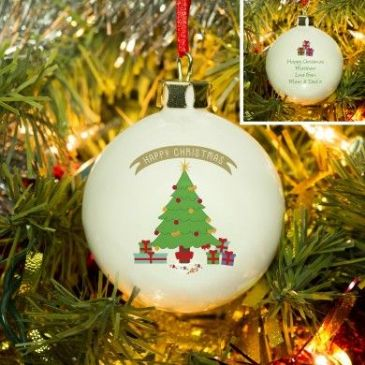 Christmas Tree Bone China Bauble